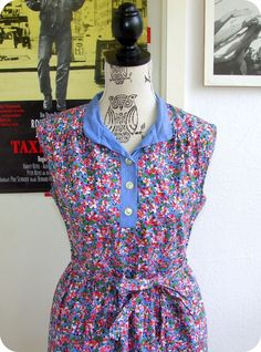 VINTAGE 60er Kleid Blumen Rockabella S M Sommer Dress Robe Boho Prairie Flowers in Kleidung & Accessoires, Vintage-Mode, Vintage-Mode für Damen | eBay!