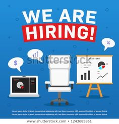 We are hiring poster ads, accountant manager or financial employee millennial job vacancy poster illustration Hiring Poster, We Are Hiring, Social Media Ad, Poster Ads, Job Posting, Accounting, Management, Positivity, Illustration