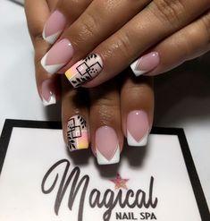 Nail Spa, Manicure And Pedicure, Gel Nails, Short Square Nails, Short Nails, Baby Shower Cards, Nail Decorations, Nail Arts, Nails Inspiration