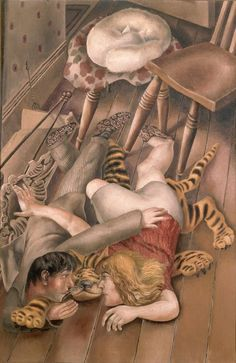 brown - couple - The Tiger Rug, 1940 - figurative painting - Stanley Spencer Stanley Spencer, Lucian Freud, Large Painting, Figure Painting, Tiger Rug, Famous Artists, British Artists, Abstract Drawings, Abstract Paintings