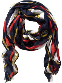 Women's Herringbone Striped Scarves Product Image