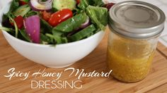 Spicy Honey Mustard Dressing  I have tried this and it is pretty good. - Anica