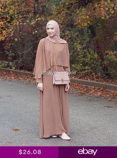 2018 muslim Adult Casual Fake two pieces Robes Musulmane Turkish Muslim Abaya Dress Robes Arab Worship Service abayas - Muslim Shops - High Quality Islamic Clothing Muslim Dress, Hijab Dress, Hijab Outfit, Dress Robes, Abaya Fashion, Fashion Dresses, Moslem Fashion, Mode Abaya, Islamic Fashion