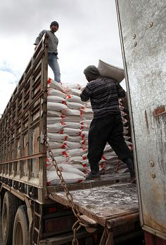 Delivering Flour to Syria's Aleppo Governorate