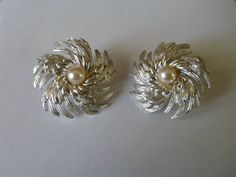 Large Sarah Coventry Swirl Pearl Silvertone by PECollectibles, $12.50