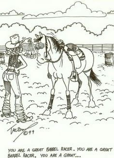 Barrel racer Western Comics, Western Art, Farm Jokes, Cowboy Quotes, Rodeo Life, Cow Girl, Bull Riding, Barrel Racing, Country Boys