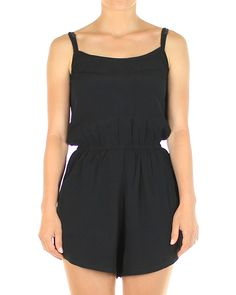 Inseption - Mink Pink - Womens - Crepe Playsuit - Black