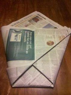 We Make Cool Things: Newspaper Trash Bag