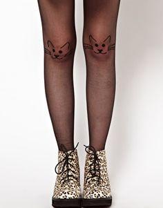 Image 1 of ASOS Cat Knit Tights