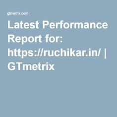 Latest Performance Report for: https://ruchikar.in/   GTmetrix