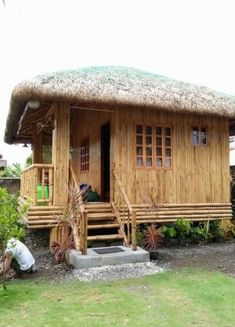 This kind of house we used to live in. this house were made of bamboo. Bahay Kubo Design Philippines, Hut House, Bali House, Tiny House, Bamboo House Design, Bamboo Building, Bamboo Structure, Bamboo Architecture, Bamboo Furniture