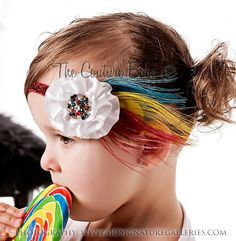 Rainbow Queen Headband from The Couture Baby