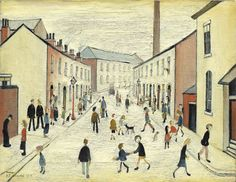LS Lowry - Coronation Street (one of the streets where he worked as a rent collector)