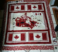 Quilting Ideas, Quilt Patterns, Canadian Quilts, Quilts Canada, Canada 150, Quilt Stitching, Quilt Blocks, Hobbies, Projects To Try