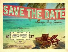 beach themed save the date....wonder if i can dig up a vintage postcard from rehoboth