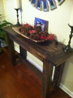 Rustic Farmhouse Console Table for Entry. $350.00, via Etsy.
