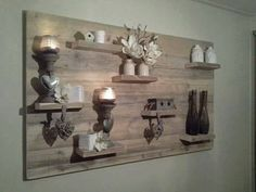 Awesome wooden wall decor made of reclaimed wood. Really stands out in your interior. Love it. Home Decor Ideas Decorations DIY Home Make Over Furniture Decoration Palette, Decoration Bedroom, Diy Home Decor, Wooden Wall Decor, Wooden Walls, Scaffolding Wood, Palette Deco, Home And Deco, Old Wood