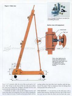 Artist Easel Plans - Woodworking Plans
