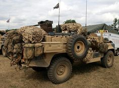 British. S.A.S. old model Land Rover 109