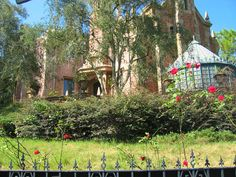 "While most of the lawns at Disney parks are meticulously tended to, the lawn at ""The Haunted Mansion"" is left to grow out and die, to match the mood of the ride."