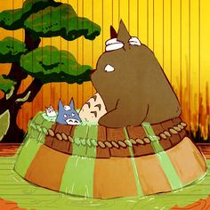 Tags: Anime, Fanart, My Neighbor Totoro, Spirited Away, Studio Ghibli