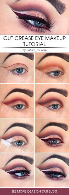 ABC Make Up Foundation Eyebrow Eyeliner Blush Cosmetic Concealer Brushes (Rose Gold) - Cute Makeup Guide Eye Makeup Steps, Smokey Eye Makeup, Makeup Eyeshadow, Makeup Brushes, Smoky Eye, Winged Eyeliner, Glitter Eyeshadow, Lip Makeup, Eyeliner Ideas