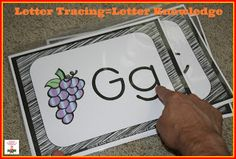 FREE!  Letter tracing book for guided reading!