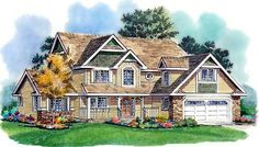 Elevation of Country   Craftsman   Farmhouse  House Plan 98850
