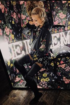 Super stoked to be celebrating the launch of the new #hm #erdem #collection in #berlin ! #hoodie , #skirt and #boots are all from that same collection, so click the pic and check it out!