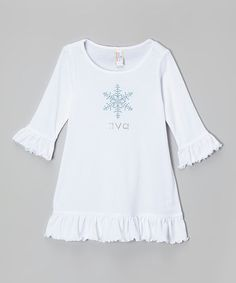 Loving this White Snowflake Personalized Dress - Infant, Toddler & Girls on #zulily! #zulilyfinds