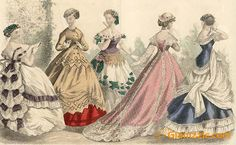 Part 4 to Victorian Fashion, Vintage Fashion, Vintage Style, Vintage Dresses, Vintage Outfits, Vintage Clothing, Civil War Fashion, Romantic Period, Fashion Illustration Vintage