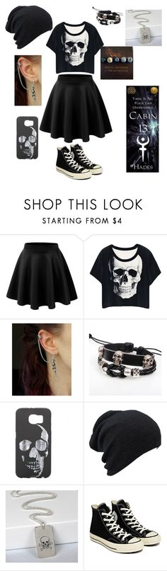 """""""Daughter of Hades"""" by booknerd7 ❤ liked on Polyvore featuring LE3NO, KINNO, Converse, women's clothing, women's fashion, women, female, woman, misses and juniors"""