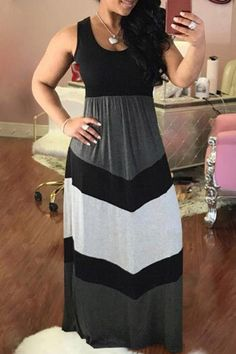 Shyfull Casual Patchwork Ankle Length Maxi Dress size M Plus Size Maxi Dresses, Casual Dresses, Fashion Dresses, Summer Dresses, Dresses Dresses, Cheap Dresses, Casual Wear, Gauze Dress, Prom Dress Shopping