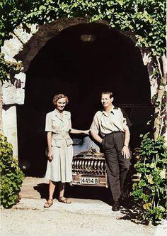 MMLL Regele Mihai I al României şi Regina Ana             Fotografie colorizată de Manuela Micu Descendants, Edinburgh
