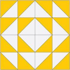 Modern Quilt Blocks, Star Quilt Blocks, Modern Quilt Patterns, Quilt Block Patterns, Pattern Blocks, Motifs Granny Square, Half Square Triangle Quilts Pattern, Square Quilt, Half Square Triangles