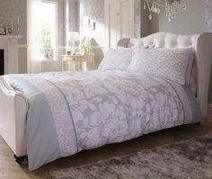 Verses Floral Duck Egg Bed Set - Little Wings Factory