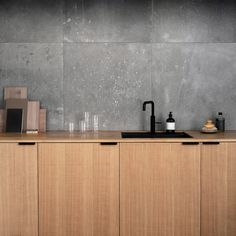 """Norm Architects sanoo Instagramissa: """"Our @reformcph kitchen design """"Surface"""" in sawn natural oak, recently installed at our Copenhagen studio. Photos by @monicasteffensen."""""""