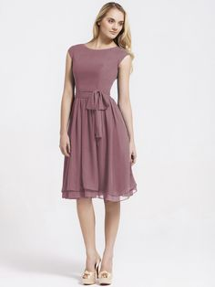 Current Frontrunner for Bridesmaid dresses (in either Dusty Rose or Deep Claret): Cap Sleeve Chiffon Vintage Bridesmaid Dress | Up to 15% off, plus FREE Custom Made! 10+ measurements required for a perfect fit, no matter what sizes you are in!