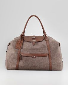 Brunello Cucinelli - Leather and Flannel Overnight Bag