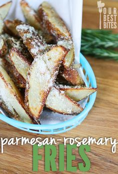 Oven-Baked Parmesan Rosemary Fries from Our Best Bites. Delicious! A favorite!