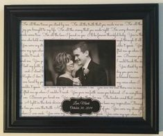 First Dance Lyrics Frame Mother Son Dance Lyric Picture Frame Mothers Day Gift Idea by WeddingFramesByDiane on Etsy Bride And Groom Gifts, Father Of The Bride, First Dance Lyrics, Mother Son Dance, Wedding Gifts For Parents, Man And Wife, First Anniversary Gifts, The Wedding Date, Wedding Frames