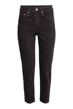 Vintage High Ankle Jeans - Black denim - Ladies | H&M GB
