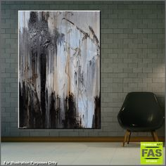 """Abstract paintings, Abstract Realism and Urban pop art """"in situ"""" displayed in spaces. Please feel free to visit my website, where you can purchase my current stock, or message me to discuss a commission (or say hello!)...... I love what I do, so please enjoy! Happy Trails Franko.......... Black White Grey abstract paintings"""