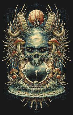 Macabre music illustrations by Silencer 8 - Bleaq Art And Illustration, Musik Illustration, Arte Horror, Horror Art, Satanic Art, Skull Artwork, Arte Obscura, Horror Comics, Wow Art