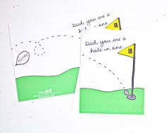 Dad you are a hole in one golf pun greeting card. A perfect card for Father's Day!