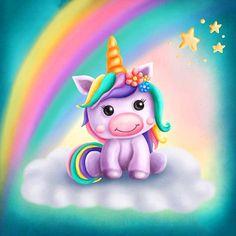 Unicorn Painting, Unicorn Drawing, Cartoon Unicorn, Baby Unicorn, Cute Unicorn, Diy Painting, Painting Tools, Rainbow Unicorn, Unicorn Images
