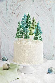 sahne füllung tannenbäume marzipan dessert #rezepte #christmascakes #recipes