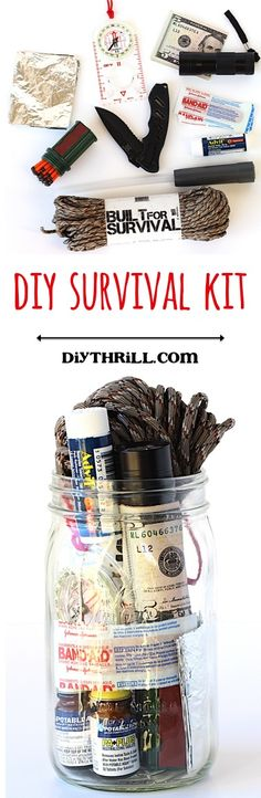 DIY Homemade Survival Kit! ~ from DIYThrill.com ~ nobody ever plans to be in a survival situation, but if the unexpected happens, you'll thank yourself for planning ahead!  These kits make great gifts, too!