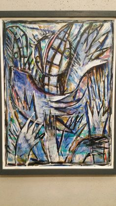 Carlos Alfonso...painting on exhibit @ Perez Art Museum in Miami Fl where Alfonso worked full time as an artist until he died in 1991.