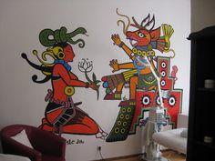 mayan mural in Germany II by Sadboy-Elchicotriste